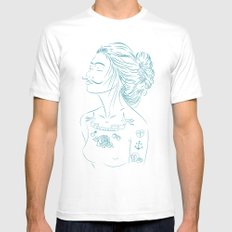 MG Mens Fitted Tee White SMALL