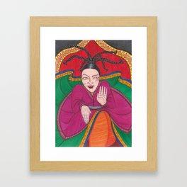 Wild Persian Dancer Framed Art Print