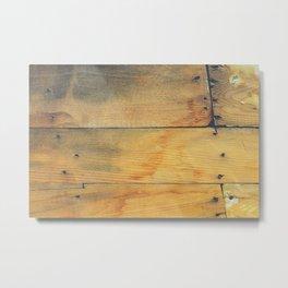 Wood Planks Shipboard Metal Print