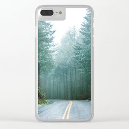 Forest Road Trip Clear iPhone Case