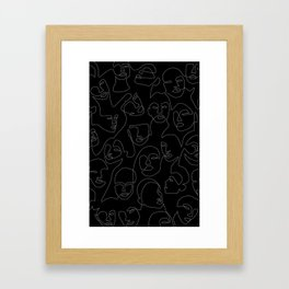 Face Lace Framed Art Print