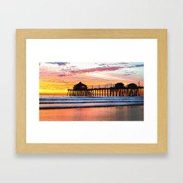 HB SUNSETS  Monsoon Skies Framed Art Print