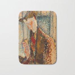 Reverie, 1914 by Amedeo Modigliani Bath Mat