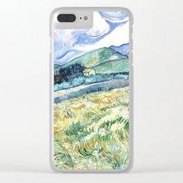 Vincent Van Gogh - Landscape from Saint Remy Clear iPhone Case