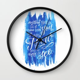 You Keep Moving On [Sunday In The Park With George] Wall Clock