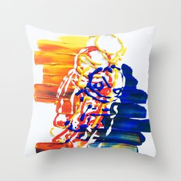 Abstractonaut V1 Throw Pillow