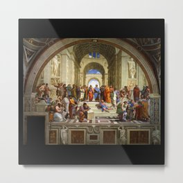 "Raphael, "" The School of Athens "" Metal Print"