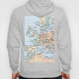 World Map Europe Hoody