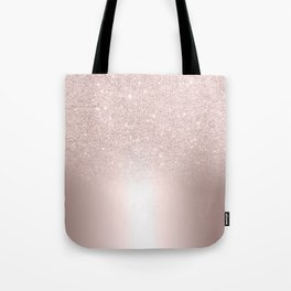Rose gold glitter ombre metallic gradient Tote Bag