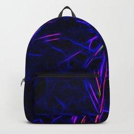 Neon lightning star - by Brian Vegas Backpack