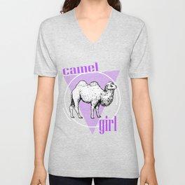 Arabian Camel, Camelus Bactrianus, Camel Unisex V-Neck