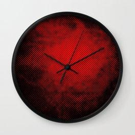 rouge et noir 6 Wall Clock