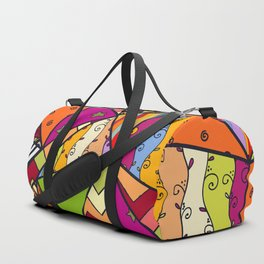 African Style No14, Tribal dance Duffle Bag