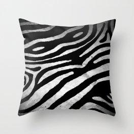 Zebra rug decor Throw Pillow