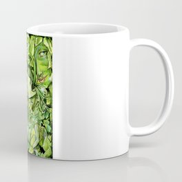 Faces in the Green Coffee Mug