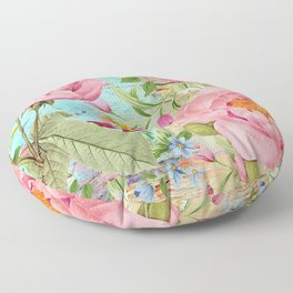 Vintage Flowers #18 Floor Pillow