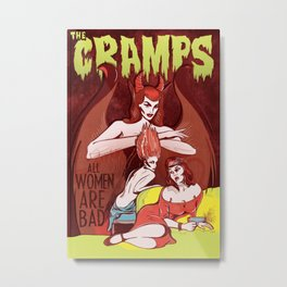 The Cramps: All Women Are Bad Metal Print