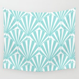 Sea shell Blue Wall Tapestry