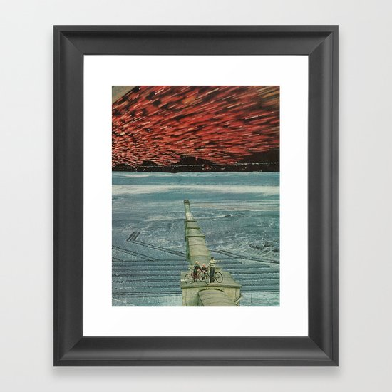 look to the east Framed Art Print