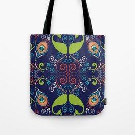 Peacock Nouveau Tote Bag