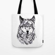 Wolf - Black 'n White Tote Bag