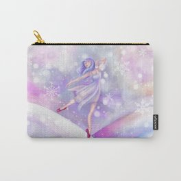Winter Lavender Ballerina Carry-All Pouch