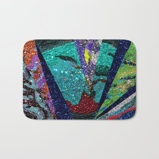 Peacock Mermaid Battlestar Galactica Abstract Bath Mat