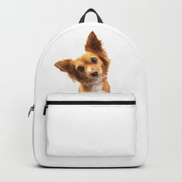 Curious Dog Portrait Backpack