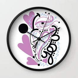 eye love you Wall Clock
