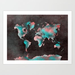 world map 61 Art Print