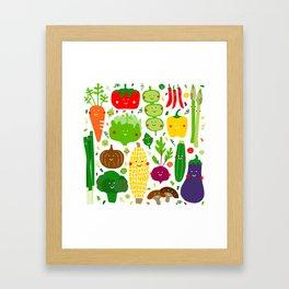 Eat your greens! Framed Art Print
