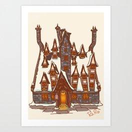 The three broomstick Art Print