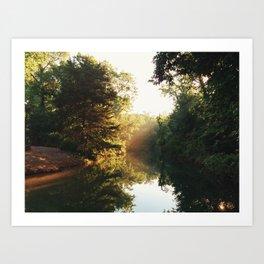 Sunset on the Springs Pt. 2 Art Print