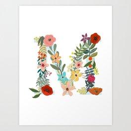 Monogram Letter M Art Print
