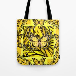 GOLDEN YELLOW MONARCH BUTTERFLIES MELODY Tote Bag