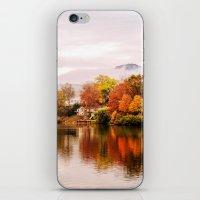 north carolina iPhone & iPod Skins featuring Lake Junaluska, North Carolina by Mary Timman