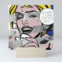 "Roy Lichtenstein's ""Oh, Jeff I Love You, Too But..."" & M.M. Mini Art Print"