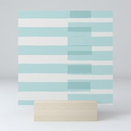 Big Stripes In Turquoise Mini Art Print
