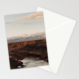 Snake River, Idaho - Scenic Desert Canyon Stationery Cards