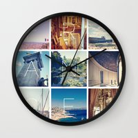 france Wall Clocks featuring FRANCE by SarahS