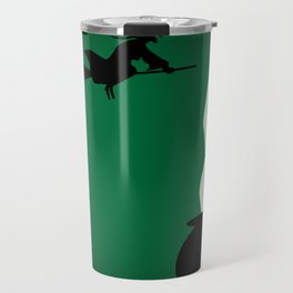 Halloween Witch Poster Background Travel Mug