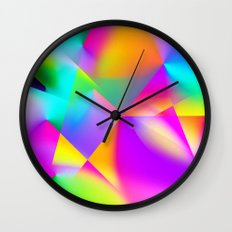 Expressionist Cubes Wall Clock