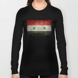 Syrian national flag, vintage Long Sleeve T-shirt