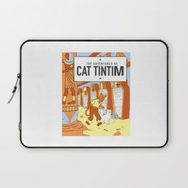 Belgian Comics Cat Tintim Laptop Sleeve