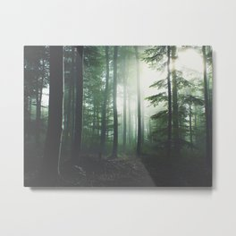 Dreary Black Metal Print