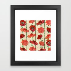 Hanging Poppy Garland Framed Art Print