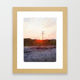 Four Hours In The Car Framed Art Print