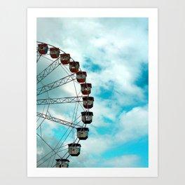 Ferris Wheel, Cannes, France Art Print