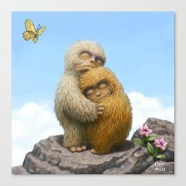 Warm and Fuzzy Canvas Print