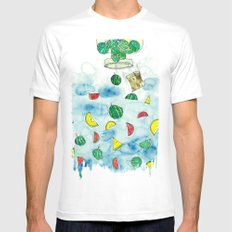 Why Watermelon Drop from Bottle? Mens Fitted Tee White MEDIUM